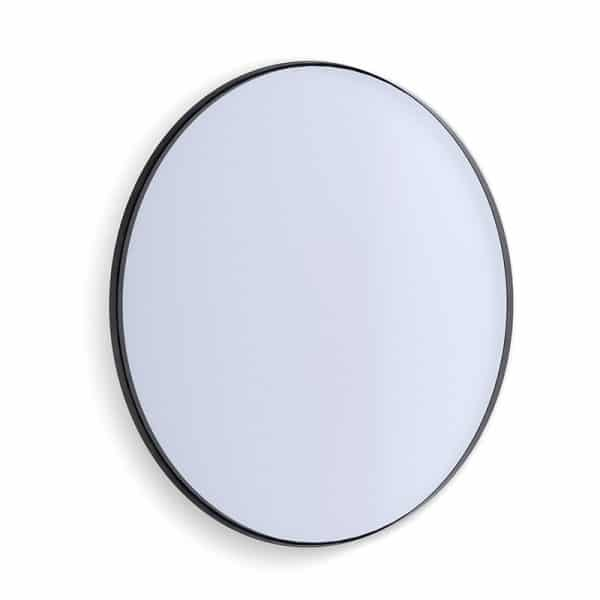 Deep Frame Circular Mirror - Black -30mm