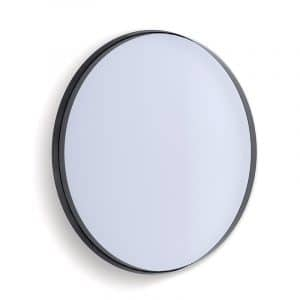 Deep Frame Circular Mirror - Black -50mm