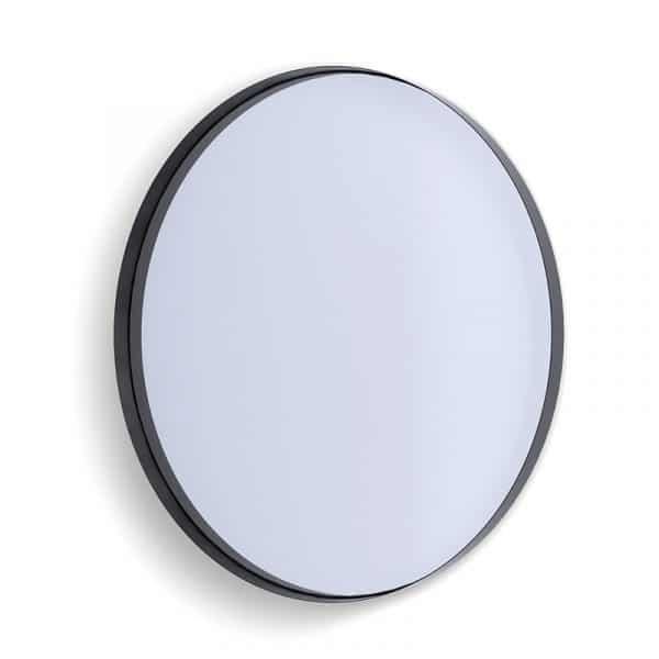 Deep Frame Circular Mirror - Black -50mm