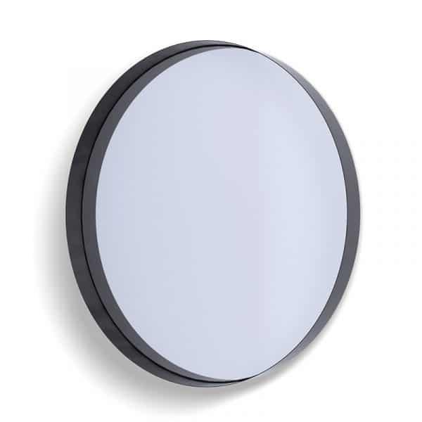 Deep Frame Circular Mirror - Black -80mm