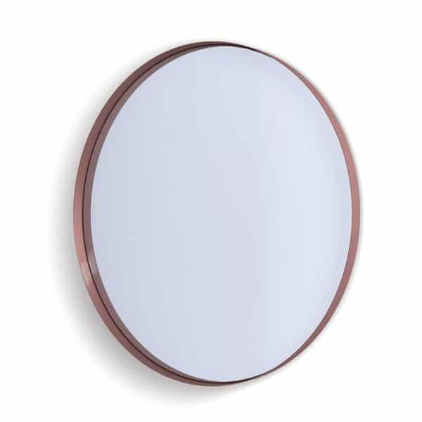 Deep Frame Circular Mirror - Copper -50mm