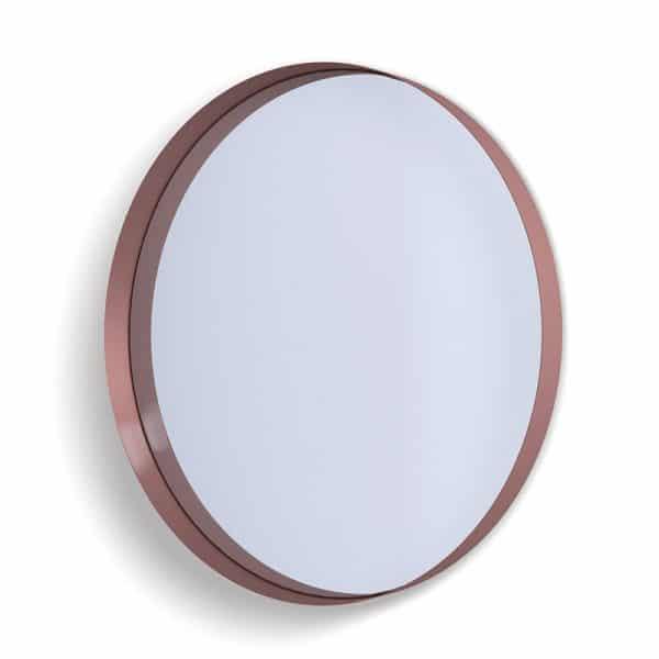 Deep Frame Circular Mirror - Copper -80mm