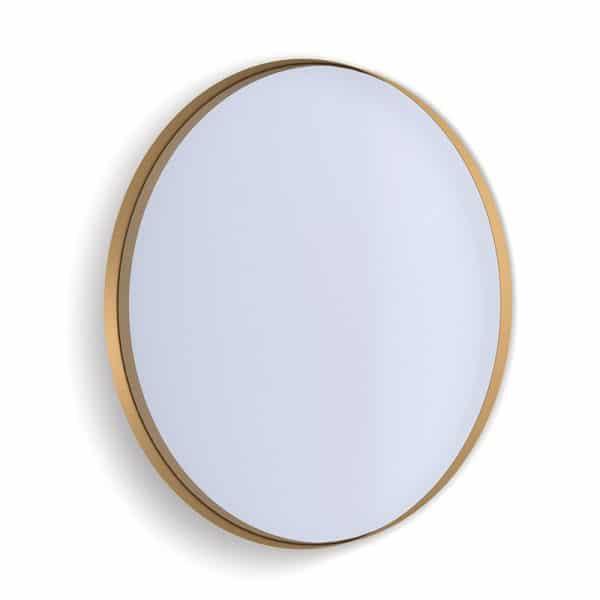 Deep Frame Circular Mirror - Gold -50mm