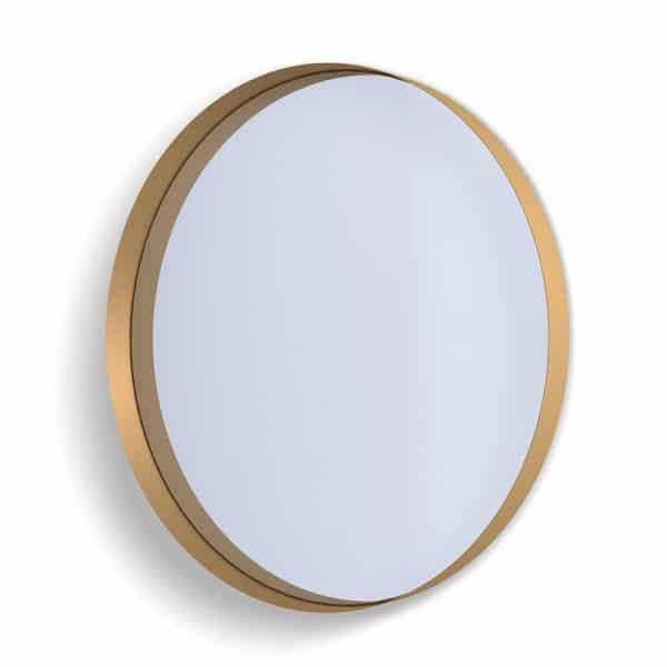 Deep Frame Circular Mirror - Gold -80mm