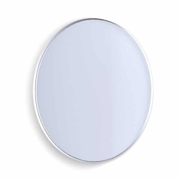 Deep Frame Circular Mirror - White -30mm
