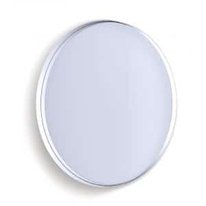 Deep Frame Circular Mirror - White -50mm