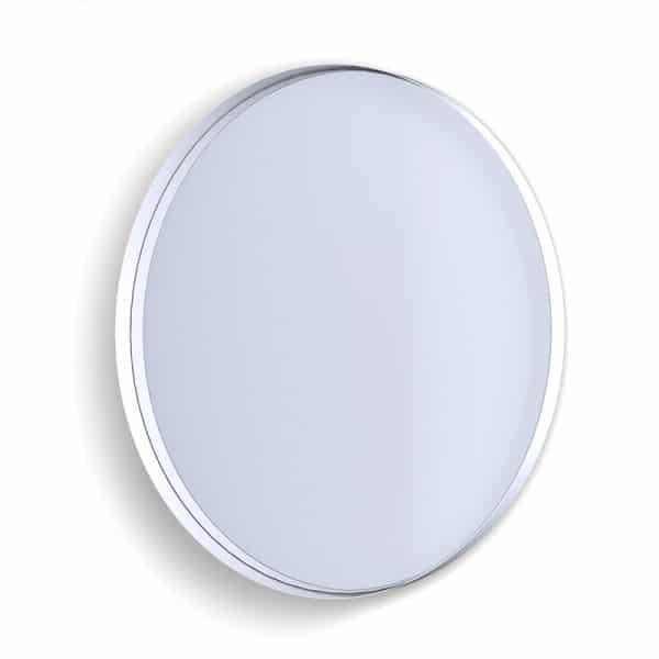 Deep Frame Circular Mirror - White -50mm
