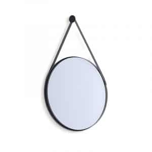 Leather Strap Mirror - Black - 60mm