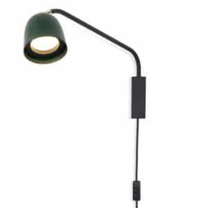 Luna Wall Light - Green Brass